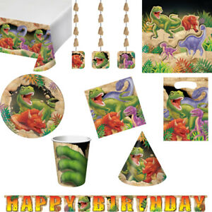 Dinosaur Themed Party Tablewear and Decorations- For Kids