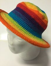 New Kids Bright Rainbow Festival  Boho Unisex Hippie Hat Size Kids 1-5 Years