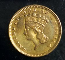 1857 Gold Liberty Head One Dollar G$1 Coin