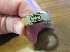 NEW sealed in package unworn goldtone BATMAN ring size 13