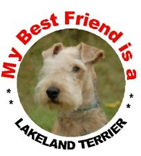 2 Lakeland Terrier Car Stickers By Starprint