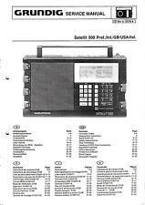 Service Manual-Istruzioni per Grundig Satellite 500