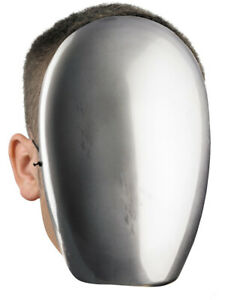 CLEARANCE Blank No Face Silver Chrome Mask