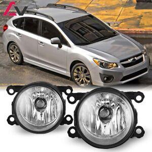 For Subaru Impreza 12-18 Clear Lens Pair Bumper Fog Light Lamp OE Replacement