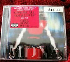 MADONNA SEALED MDNA CD WITH BIG PINK PROMO HYPE STICKER RARELY SEEN SUPER BOWL