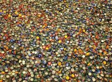 100 MIXED BEER BOTTLE CAPS GREAT COLORS NO DENTS AWESOME MIX CLEAN NO GUNK