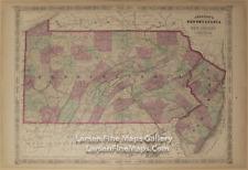 1866 Johnson's Pennsylvania and New Jersey, Rare Atlas Map