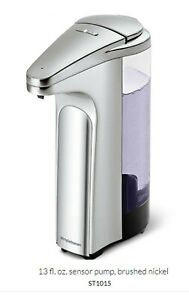 Simplehuman Sensor Pump with Soap Sample Dispenser,  13 oz. ST1015