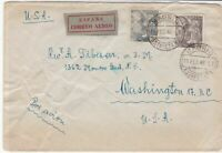 spain  1948 airmail stamps cover ref 19328