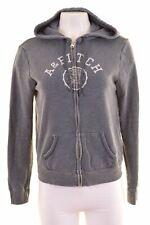 ABERCROMBIE & FITCH Womens Hoodie Sweater Size 12 Medium Blue Cotton  IB10