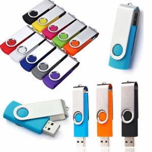 2TB 256GB Metal Swivel USB 2.0 Flash Drive Memory Stick Pen U Disk Thumb PC