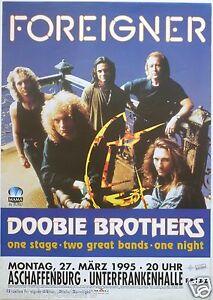 FOREIGNER / DOOBIE BROTHERS 1995 GERMAN CONCERT TOUR POSTER
