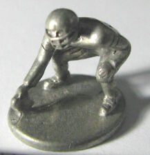 Hasbro Monopoly NFL Official (1998) token metal Lineman pewter mover miniature.