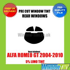 ALFA ROMEO GT 2004-2010 5% LIMOUSINE ARRIÈRE VITRE TEINTÉE PRÉ DÉCOUPÉE