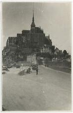 PHOTO VINTAGE ANONYME : MONT SAINT MICHEL, vers 1930-1940