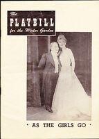 As the Girls Go Playbill June 13 1949 Bobby Clark Dick Dana Jack Russell