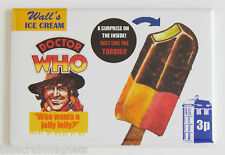 Doctor Who Ice Cream FRIDGE MAGNET (2 x 3 inches) sign wrapper dr tv show