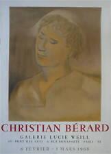 Christian Berard Affiche Lithographie Mourlot théâtre illustrateur scénographe