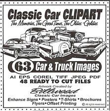 Classic Car ClipArt CD - 63 Car & Truck Vector Images