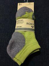 Roxy Women's Socks 3 Pairs Green/Gray/Black