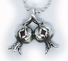 Two Pomegranate Sterling Silver Pendant