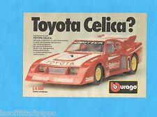 TOP985-PUBBLICITA'/ADVERTISING-1985- BURAGO - TOYOTA CELICA 1:24