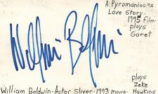 William Baldwin Actor Sliver Pyromaniac Love Story Autographed Signed Index Card