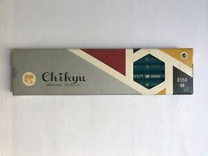 """12 VINTAGE JAPANESE PENCILS: """"CHIKYU"""" 12-PACK  8550  4H PENCILS - UNUSED - NOS"""