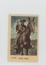 1957 Dutch Gum S Set #S.205 Clark Gable Non-Sports Card f5h