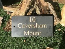 Slate House Sign 300mmx150mm High Quality Any Name/Number/Address/Font