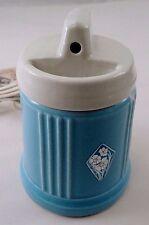 1930s Art Deco Decor Hankscraft Baby Boy Blue Porcelain Bottle Warmer Humidifier