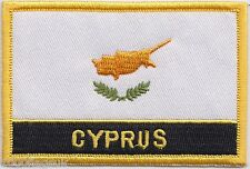 Cyprus Flag Embroidered Patch Badge - Sew or Iron on