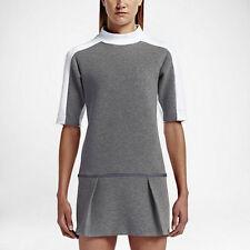 New Nike Women Court Tennis Dress Sz M & L & XL Gray & White 802607-091 $150