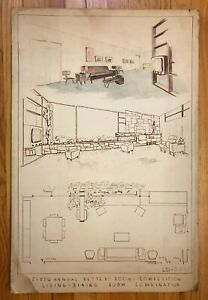 MCM Architectural Drawing 5th Annual Better Rooms Competition RD Parsons 20x30