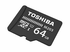 TOSHIBA M203 MICRO SD 64 GB CLASS 10 FLASH MEMORY CARD NEW A