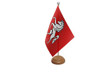 Kent Table Flag with Wooden Stand