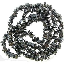 "Hematite Chip Beads 34"" - 36"" Endless Strand or Necklace Medium Chips"