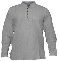 Shopoholic Fashion Mens Summer Stripy Shirt Full Sleeve Hippie Tops