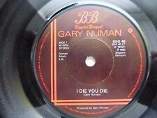 "GARY NEWMAN - I DIE YOU DIE / DOWN IN THE PARK 1980 7"" VINYL SINGLE. BEG 46."