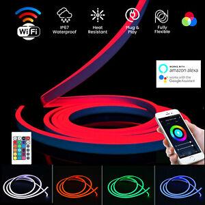 ATOM LED Smart WiFi RGB Neon Flex Lights APP Control for Alexa Google Home DC12V
