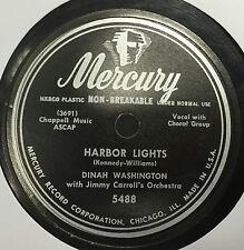 "78 Dinah Washington Harbor Lights / I Cross My Fingers 1950 VG 10"" Mercury 5488"