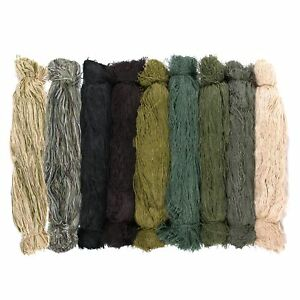 "Synthetic Ghillie Thread Bundles - 20"" Length - Choose From 9 Colors"