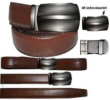 """Men's belt, Genuine Leather Dress & casual Belt. Auto lock New Buckle UP to 50"""" """