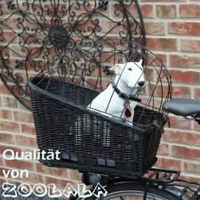 XL Hunde-Fahrradkorb für Gepäckträger mit Gitter Gepäckträgerkorb Weide NEU #