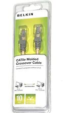 Belkin Cat5e Molded Crossover 10 Ft Cable Rj45 Male Network - Beige