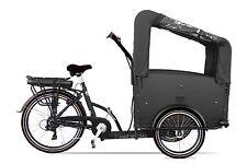 Electric bakfiets ETroy Vélo Hollandais cargo transport 4 enfant noir-noir Neuf
