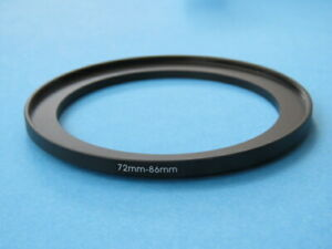 72mm to 86mm Step-Up Ring Camera Filter Adapter Ring 72mm-86mm
