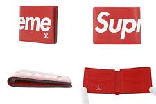 ⭐ Authentic Louis Vuitton Supreme M67717 Epi Leather Red Slender Bifold Wallet