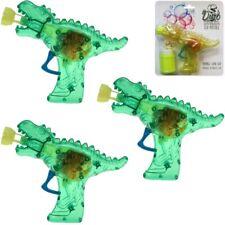 """3x Seifenblasenpistole """"Dino-Gun"""" mit Lichteffekt inkl. Seifenblasenflüssigkeit!"""