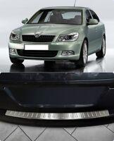 For Skoda Octavia Facelift A5 Chrome Rear Bumper Protector Scratch Guard S.Steel